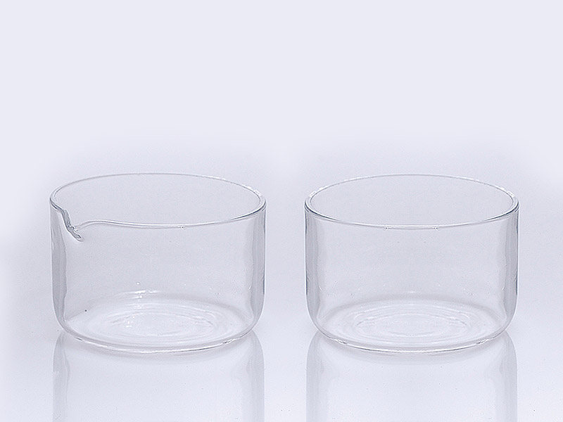 Quartz glass crystallizing dishes