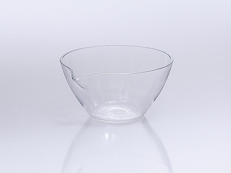 Quarzglas Abdampfschale mit Ausguss