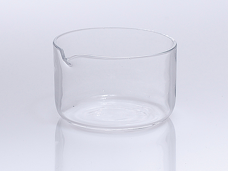 Quarzglas Kristallisierschalen mit Ausguss nach DIN 12 336 / 12 338