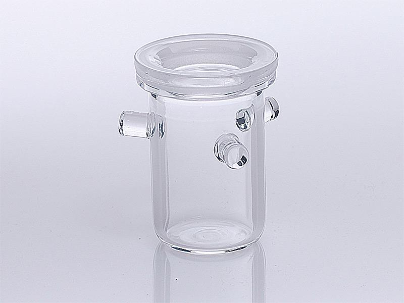 Quarzglas Verkokungstiegel nach Rademacher